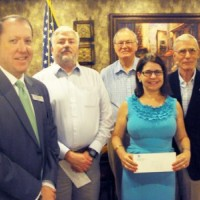 Golden K Kiwanis Club presents checks to four non-profits that assist students