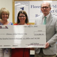 The School Foundation presents $114,006.36 to Florence School District One for 2016-2017 grants